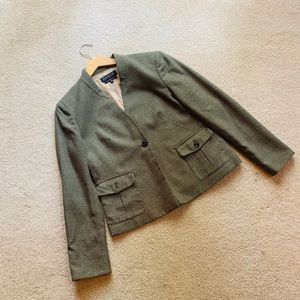 Jones New York Collection Olive Green Dress Coat